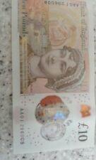 rare 10 pound note AA01