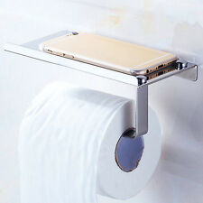 Bathroom Toilet Stainless Steel Wall Mounted Paper Tissue Roll Holder With Shelf