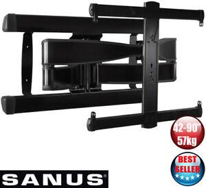 """Sanus VLF728-B2 Full Motion Premium TV Wall Mount Bracket 42-90"""" RRP $499"""