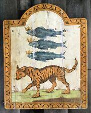 "Antique Decorative wooden shop sign Handmade 30"" Spain [AH933]"