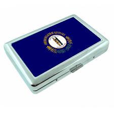 Kentucky State Flag D1 Silver Cigarette Case / Metal Wallet Card Money Holder
