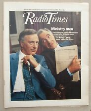 Radio Times/1981/Yes Minister/Hi-De-Hi begins/Crufts/Derek Jacobi/Doctor Who pic