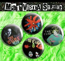 THE CURE ONE INCH Pins Buttons Badges Robert Smith band shirts vinyl cd