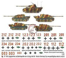 Peddinghaus 1/35 Jagdpanther and Befehlspanther Markings s.Pz.Jag.Abt.654 1788