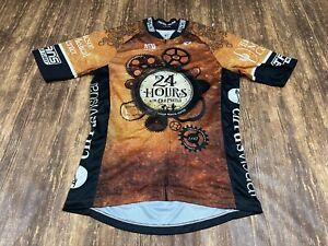 "Pearl Izumi ""Old Pueblo"" Men's Tan/Black Full Zip Cycling Jersey - Medium"