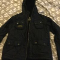 barbour international boys xl quilted jacket