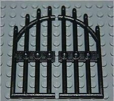 Lego castle door gate black