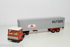 LION CAR DAF 2600 TRUCK WITH TRAILER RUTGES NEAR MINT CONDITION
