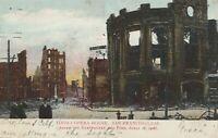 TIVOLI OPERA HOUSE, SAN FRANCISCO, CA. Postcard. Destroyed Earthquake Fire