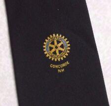 Rotary International Concorde nh Club Asociación Corbata Vintage Azul Marino 1970s 1980s