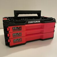 CRAFTSMAN 3 DRAWER VERSASTACK TOOL CASE. BRAND NEW. EMPTY  *TOOLS NOT INCLUDED*