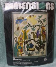 Nativity Scene Needlepoint Kit Dimensions 1977 Sealed Nip