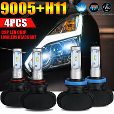 4x 9005 H11 Total 480W 48000LM LED Headlight Hi-Lo Beam Combo Kit 6500K