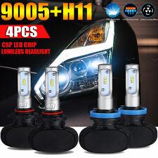 4x 9005 H11 Total 480W 48000LM PHILIPS LED Headlight Hi-Lo Beam Combo Kit 6500K