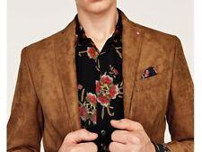 Detalles de Zara para Hombre Marrón Piel de Oveja Imitación ante Artificial Conducción