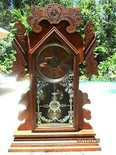 "Antique Ansonia Oak Mantle Clock ""Hanover"""