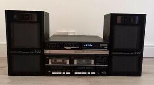 Vintage Retro Fisher Tac M22 Double Tape, FM, MW, LW Receiver Hifi + Speakers