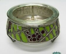 Vintage Russian Silver Plated And Enamel Open Salt Cellar Mstera Jewellers 1963
