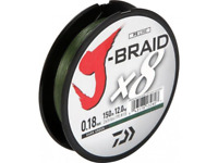 Daiwa X8 J Braid 150m Dark Green