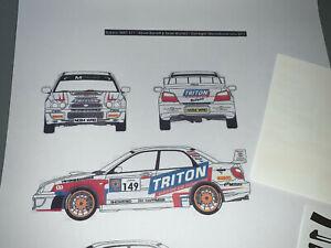 RALLY TRANSKIT 1/43 DECAL KEVIN BARRETT SUBARU IMPREZA S11 WRC DONEGAL 2011 TROA
