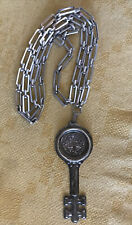 Reed & Barton Wine Taster's Key Sterling Silver C.1880 Reissue with Chain!