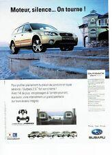 Publicité Advertising 037  2006   la nouvelle  Subaru  Outback 2.5I