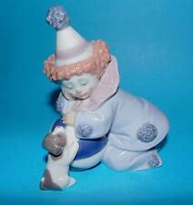 Lladro Figurine ornament clown  'Pierrot with puppy and ball'  #5278 1st Quality