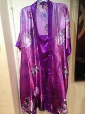 Women's Bride 2PC Robe&Gown Set Lingerie night sleepwear dress gift plus 1X2X 3X