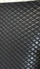 CHARCOAL PVC Quilted Upholstery Vinyl Fabric with 3/8