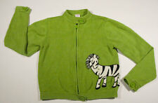 GYMBOREE GIRLS SIZE 9 SWEATER  MOD ZEBRA GREEN SWEATER