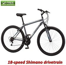 "MOUNTAIN BIKE 29"" FRONT SUSPENSION GRAY MEN'S TRAIL RIDE BICYCLE SHIMANO NEW!"