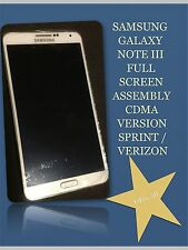 SAMSUNG GALAXY NOTE 3 SCREEN ASSEMBLY WHITE, WITH FRAME, PLUS SMALL PARTS!!!