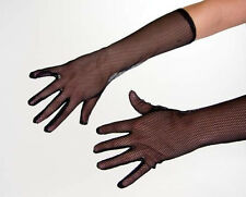 Netzhandschuhe in schwarz / ca. 40cm lang / Netz-Handschuhe, Karneval, Show