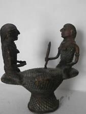 Ancienne sculpture bronze bénin nigéria art africain antique african art