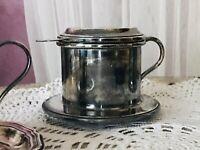 Antik Tassen-Filter Kaffee-Filter Filter versilbert Art Deco