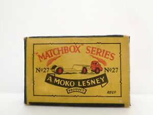 box-1956 MOKO Lesney MATCHBOX No.27 'BEDFORD LOW LOADER'---see photos & more bxs