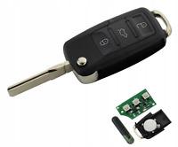 Remote Key ID48 1K0959753G Chip + Battery for VW Golf Caddy Tiguan Touran Jetta