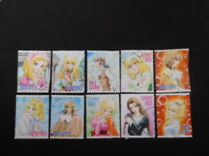 JAPAN COMMEMO STAMPS ( ANIMATION HERO & HEROINE.THE ROSE OF VERSAILLES ) USED