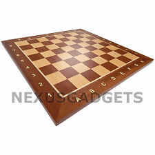 SAPELE Chess 15 INCH LARGE Wood Wooden Rank&File Game Set Flat Inlaid BOARD ONLY