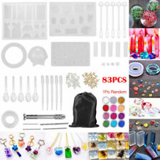 83Pcs Silicone Casting Molds Tools Sets Jewelry Pendant Resin DIY Mould With Bag