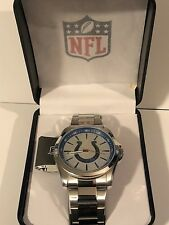 INDIANAPOLIS COLTS Mens WATCH Colts FOOTBALL Logo NFL Stainless Steel NEW in  BOX 10d16faa4