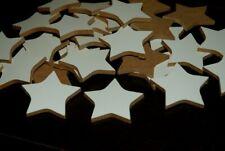 50 stelle in legno di mdf bianco da un lato, 5cm circa  matrimonio, bomboniera