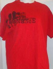 MY CHEMICAL ROMANCE BAND RED GRAVEYARD TOMBSTONES MCR GRAPHIC T-SHIRT MEDIUM