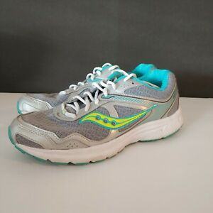 Saucony women's Silver/Grey/Glue/yellow  Cohesion 10 Running Shoes Size 11