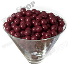 12mm - 50pcs Burgundy Gumball Beads Bubble Gum Spacer Small Chunky US Seller
