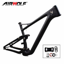 "29er 2.4'' Full Suspension Carbon MTB Frame 19"" PF30 DISC Bike Framesets Matte"