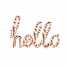 Rose Gold Party Supplies Hello Script Shaped Foil Balloon Birthday Decoration