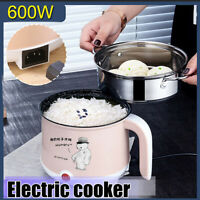 1.8L 2 Layer Electric Rice Cooker Eggs Steamer Cooking Heating Pot Multifunction