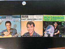 ELVIS KENTUCKY RAIN, FEELS SO RIGHT & ROY ORBISON RIDE 45 RECORD/LP ITEM #2616