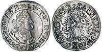 Hungary LEOPOLD I 1668 Silver 6 Kreuzer Coin KB